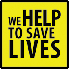 We help to save lives - logo